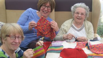 Resident at Belper care home knits for special cause