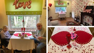 Couple celebrate Valentine's Day at Glasgow care home