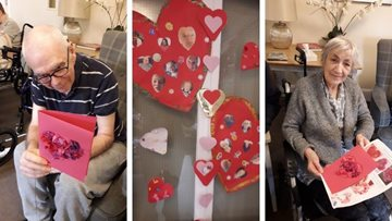 Love is in the air at Stockport care home