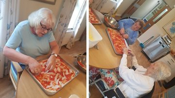 Pizza making is a success at Eckington care home