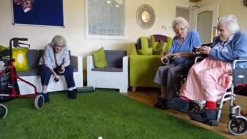 Goole care home Residents have a ball
