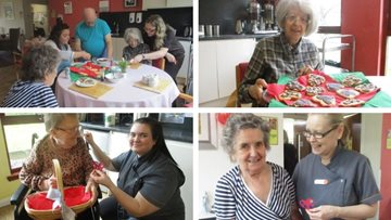 Valentine's Day celebrations at Inverness care home