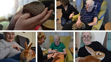 Residents welcome furry friends to White Gables care home