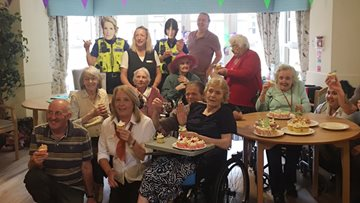 HC-One Residents Ready Steady Bake for Macmillan