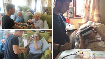 Residents reminisce at Yarm care home