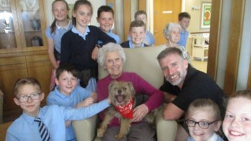 Guisborough care home welcomes local school children and therapy dogs