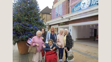 Whittlesey care home Residents enjoy Christmas shopping trip