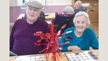 Valentine's celebrations at Hornchurch care home