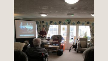 Hinckley care home Residents explore local history
