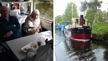 All aboard! Glasgow care home Residents enjoy barge trip