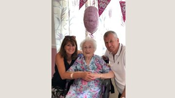 Resident at Hornchurch care home celebrates 90th birthday