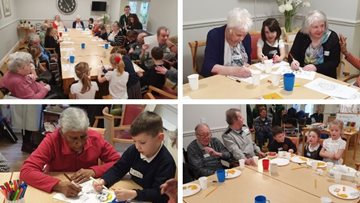 Intergenerational session is a success at Bingham care home