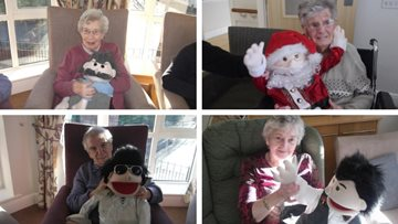 Newcastle upon Tyne care home Residents enjoy festive puppet show