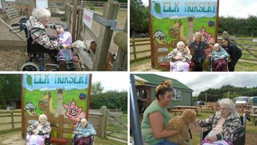 Residents visit local family-run nursery and farm shop