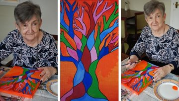 Art extravaganza at Merthyr Tydfil care home