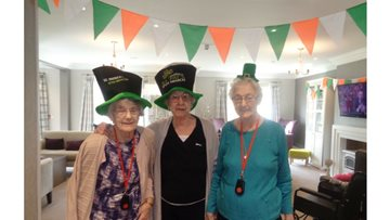 St Patrick's Day sing-a-long at St Clare's Court