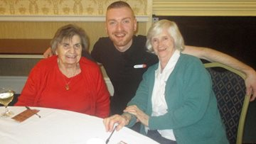 Peterlee care home attends New Year's party at Shotton Hall