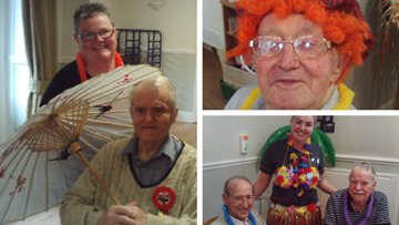 Resident enjoys 'around the world' birthday bash