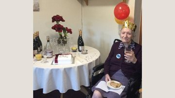 100th birthday celebrations at Edinburgh care home
