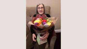 Husband sends anniversary flowers for wife at Glenrothes care home