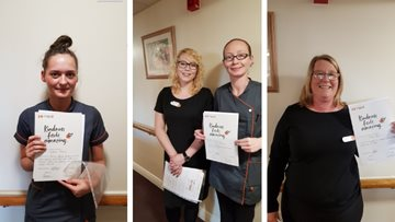 Colleague kindness celebrated at Tranent care home