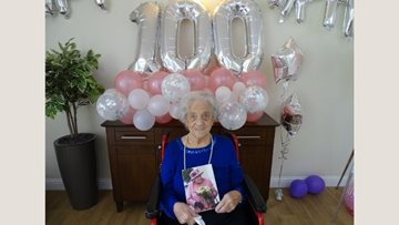 Linlithgow care home Resident celebrates 100th birthday
