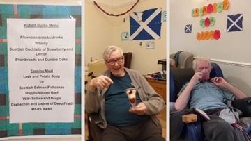 Burns supper at Lancashire care home