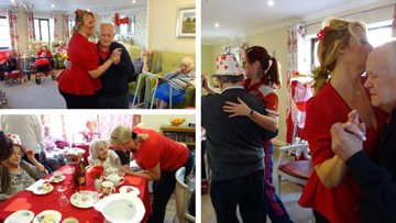 Residents enjoy Valentine's themed afternoon tea