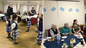 Isle of Skye care home host St Andrew's Day celebrations