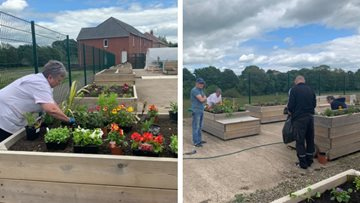 Irvine care home community garden is growing places