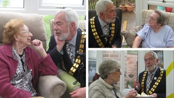 Residents welcome Mayor to Bankwood care home coffee morning