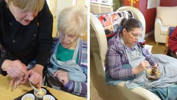 Residents enjoy baking afternoon at Grimsby care home