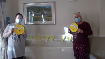 Durham care home Colleagues celebrate Children in Need
