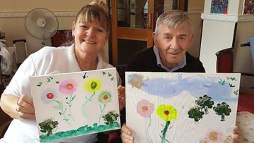Art Therapy Brings Care Homes Together