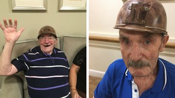 Local miners visit care home