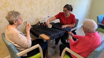 Residents enjoy pamper session at Rotherham care home