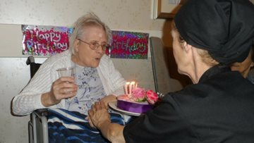 Resident celebrates 84th birthday at Birmingham care home