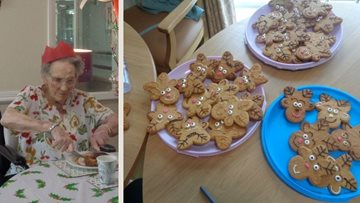 Christmas Day at Stanley care home