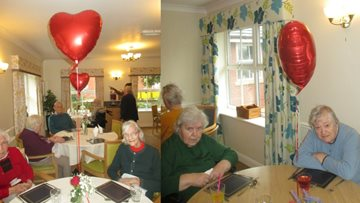 Maple Lodge hosts Valentine's Day tea party