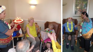 Oldbury care home Residents put on their dancing shoes