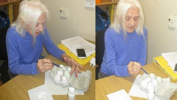 Stafford care home shows Resident an eggciting time