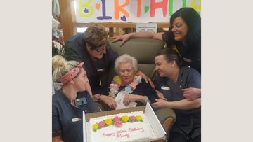 100 birthday candles at Glasgow care home