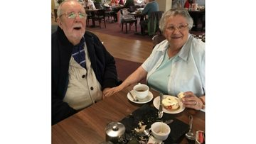 Resident at Defoe Court plans a surprise birthday for his wife