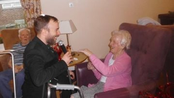 Love is in the air at Ashton-under-Lyne care home