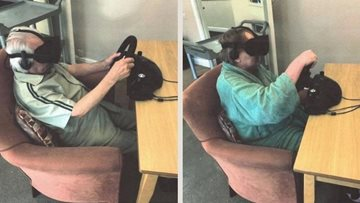 Manchester care home Residents experience virtual reality