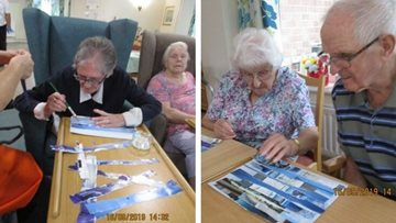 Crafty fun at Chaseview care home