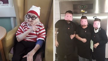 Broadoak Manor residents dress up for World Book Day