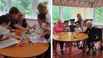 Intergenerational celebrations at Glasgow care home