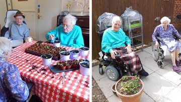 Eastbourne care home's blooming good gardening club
