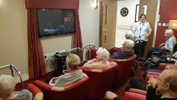 Residents enjoy the 'greatest show' as Stalybridge care home hosts cinema afternoon